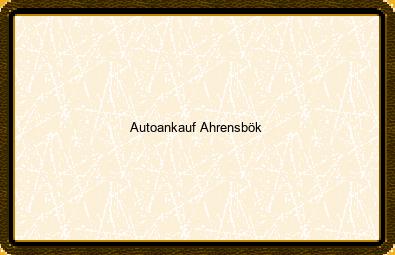 Autoankauf Ahrensbök