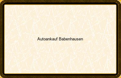 Autoankauf Babenhausen