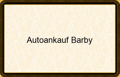 Autoankauf Barby