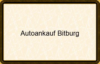 Autoankauf Bitburg