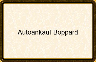 Autoankauf Boppard