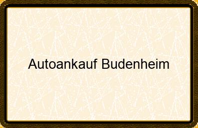 Autoankauf Budenheim