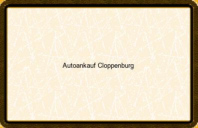 Autoankauf Cloppenburg