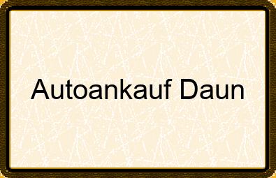 Autoankauf Daun