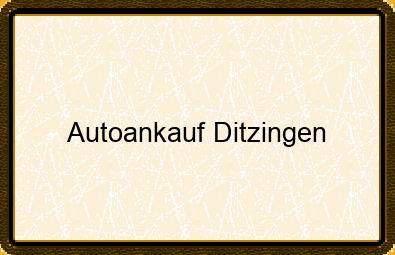 Autoankauf Ditzingen