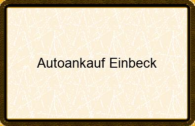 Autoankauf Einbeck