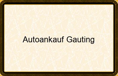 Autoankauf Gauting