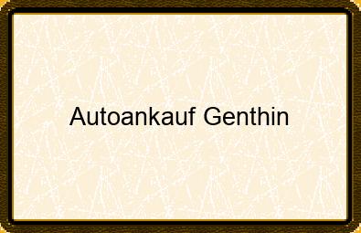 Autoankauf Genthin