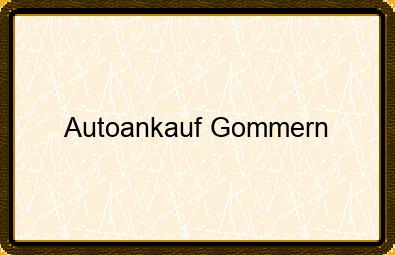 Autoankauf Gommern