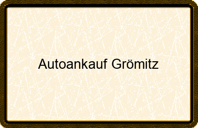 Autoankauf Grömitz