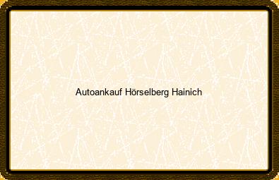Autoankauf Hörselberg-hainich