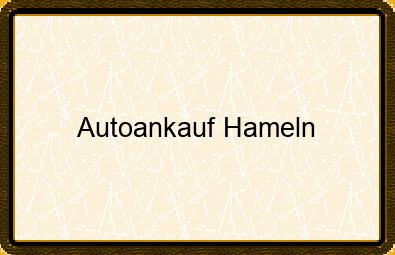 Autoankauf Hameln