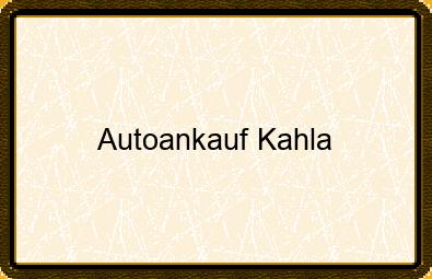 Autoankauf Kahla