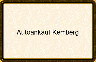 Autoankauf Kemberg