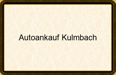 Autoankauf Kulmbach