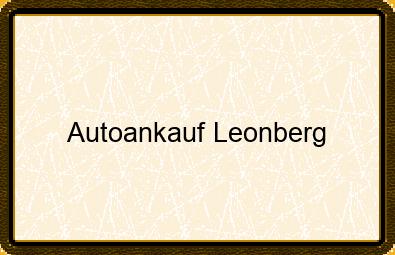Autoankauf Leonberg