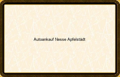 Autoankauf Nesse-apfelstädt