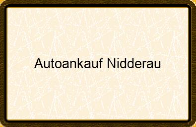 Autoankauf Nidderau