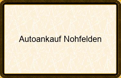 Autoankauf Nohfelden