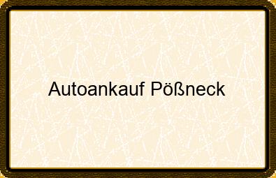Autoankauf Pößneck
