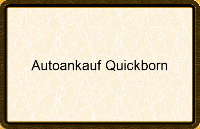 Autoankauf Quickborn