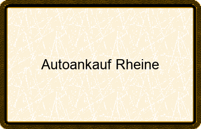 Autoankauf Rheine