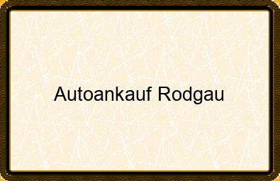 Autoankauf Rodgau