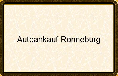 Autoankauf Ronneburg