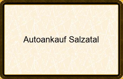 Autoankauf Salzatal