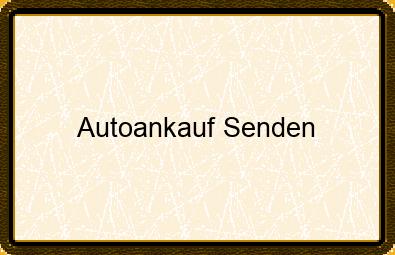 Autoankauf Senden
