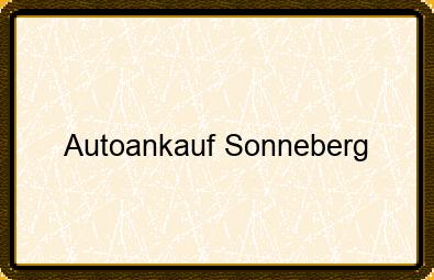 Autoankauf Sonneberg