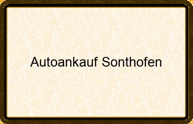 Autoankauf Sonthofen