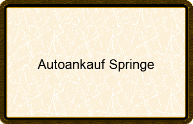 Autoankauf Springe