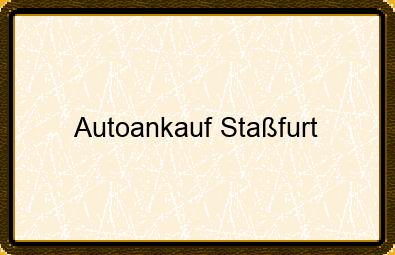 Autoankauf Staßfurt