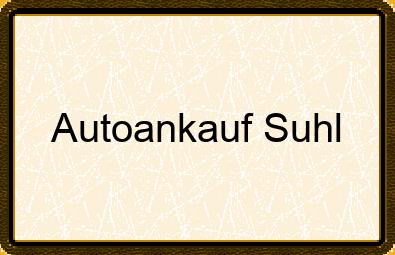 Autoankauf Suhl