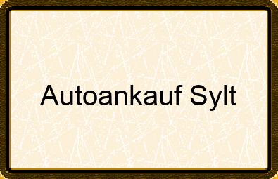 Autoankauf Sylt