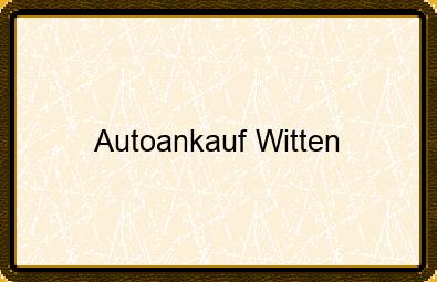 Autoankauf Witten