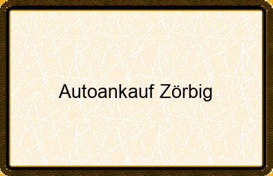 Autoankauf Zörbig