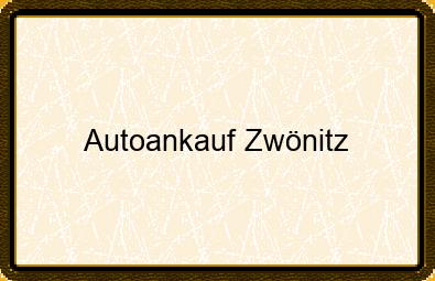 Autoankauf Zwönitz